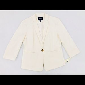 Women's Lands End Eggshell White Jacket Size 6